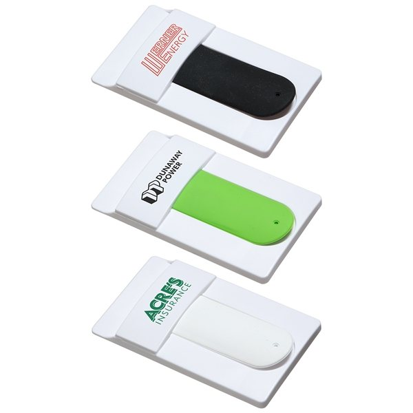 Promotional Snap it Mobile Wallet with Phone Stand