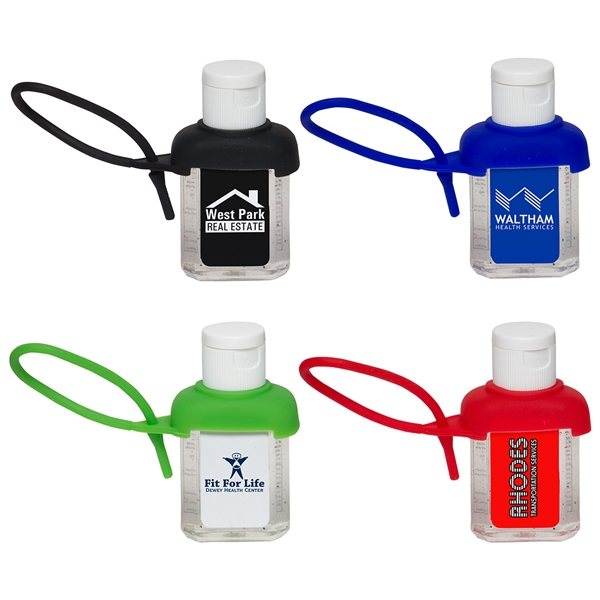 Promotional Caddy Strap One Ounce Hand Sanitizer