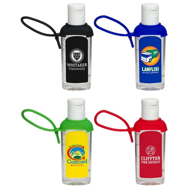 Promotional Caddy Strap Two Ounce Hand Sanitizer