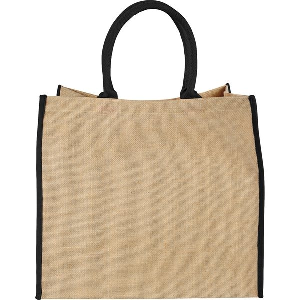 Promotional The Large Jute Tote with Velcro Closure