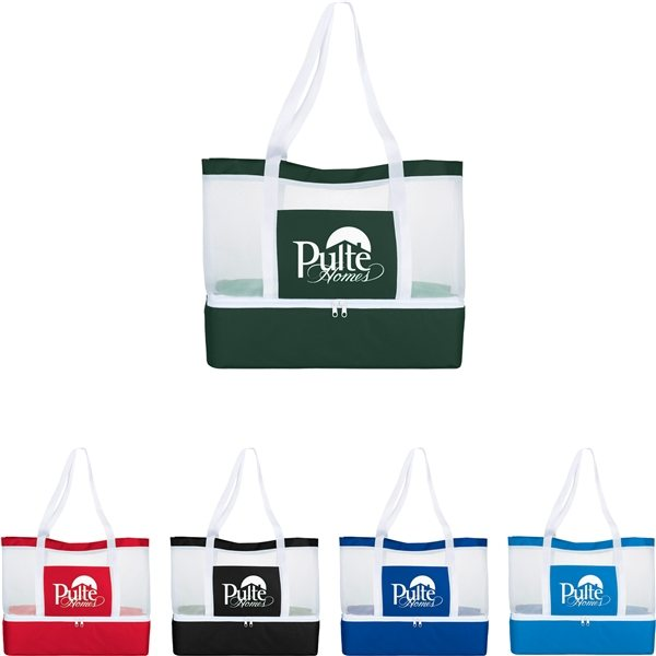 Promotional Mesh Outdoor 12- Can Cooler Tote