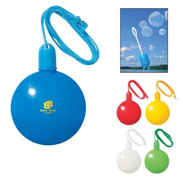 Promotional 1.33 oz Round Bubble Dispenser