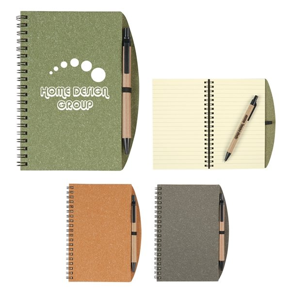 Promotional Eco - Inspired Spiral Notebook Pen