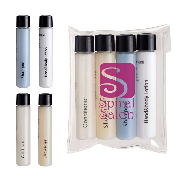 Promotional 4 Piece Travel Amenities Kit