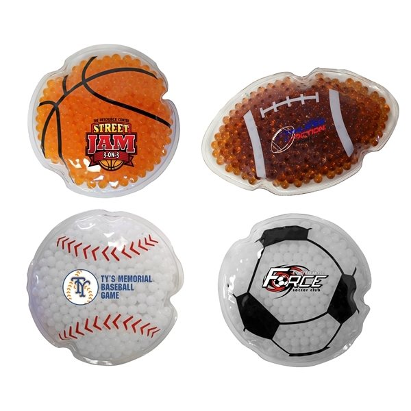 Promotional Sport Gel Bead Hot / Cold Pack, Full Color Digital