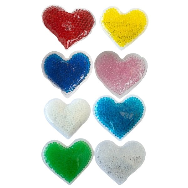 Promotional Gel Beads Hot / Cold Pack Hearts