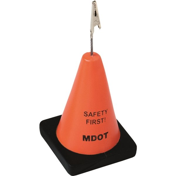 Promotional Construction Cone Stress Reliever / Memo Holder