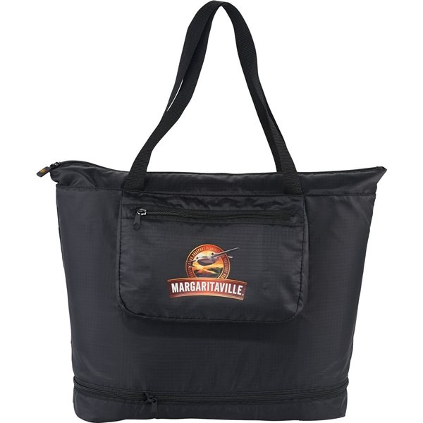 Promotional BRIGHTtravels Foldable Zippered Tote