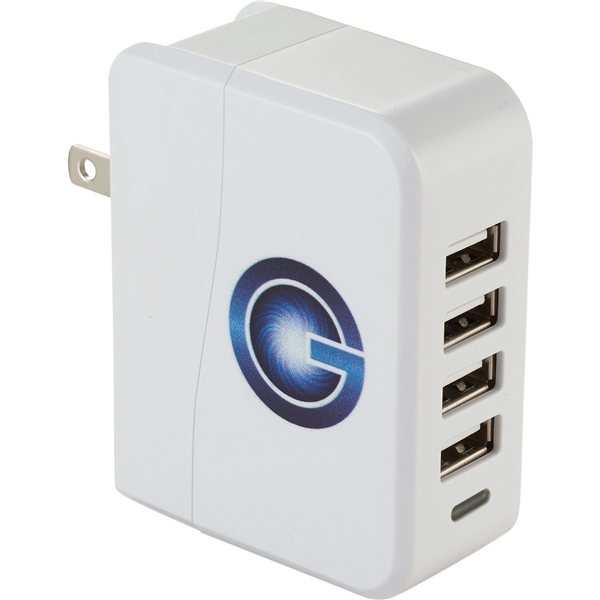 Promotional UL Listed Gale 4 Port AC Adapter