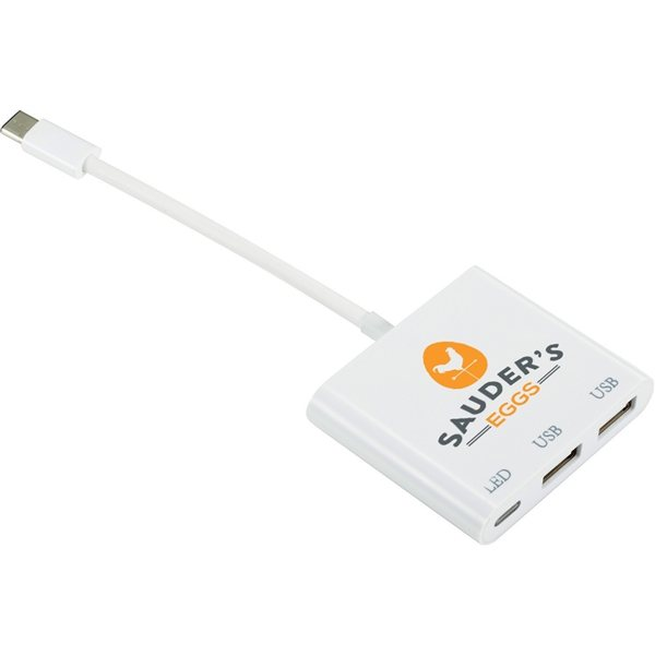 Promotional Type C 2 in 1 Charging Hub