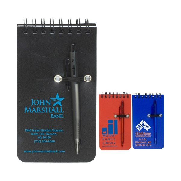Promotional Pocket Sized Spiral Jotter Notepad Notebook With Pen