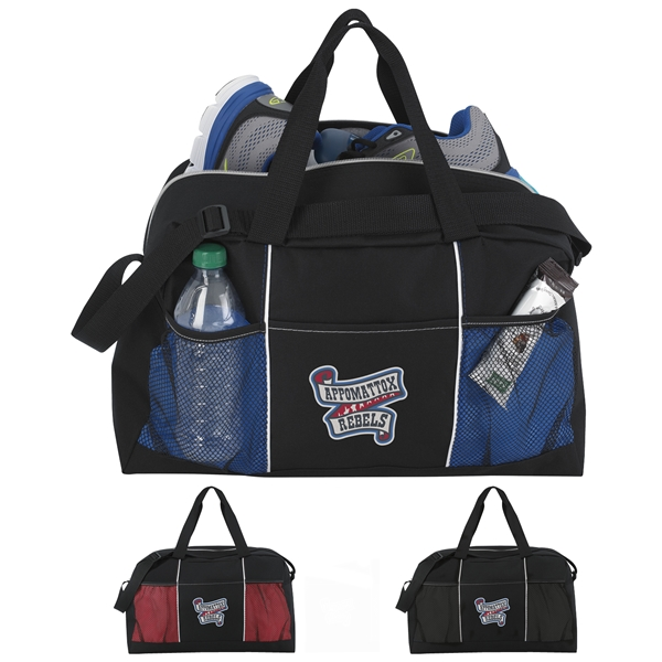 Promotional Atchison Polyester Stay Fit Duffel Bag