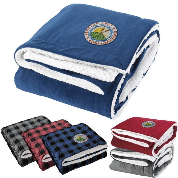 Promotional Polyester Sherpa Throw