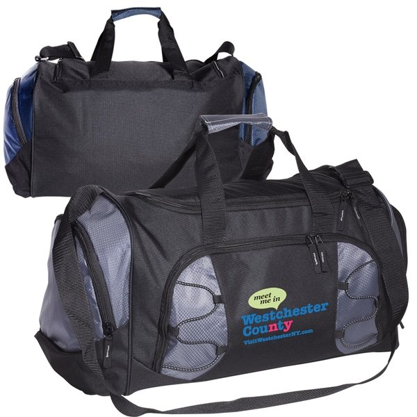 Promotional Polyester Diamond Duffle Bag with PVC Backing
