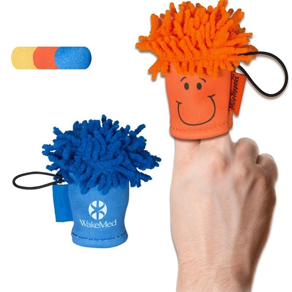 Promotional MopTopper(TM) Finger Puppet Screen Cleaner