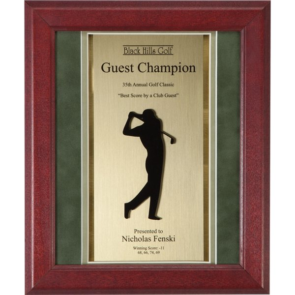 Promotional Rosewood and Suade Golf Award