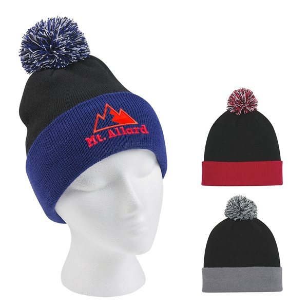 Promotional Knit Pom Beanie With Cuff