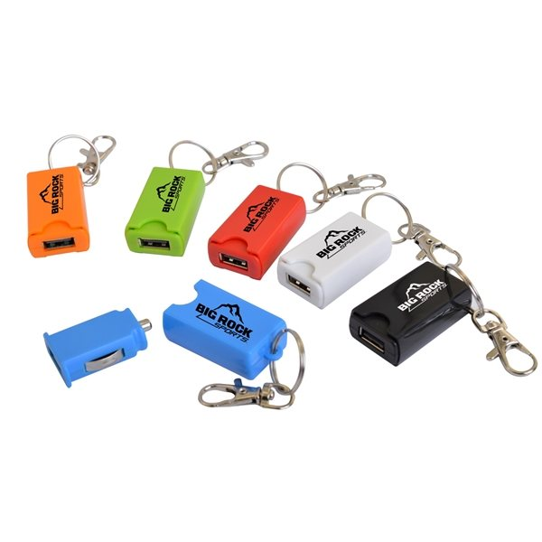 Promotional USB Car Charger on a KeyChain