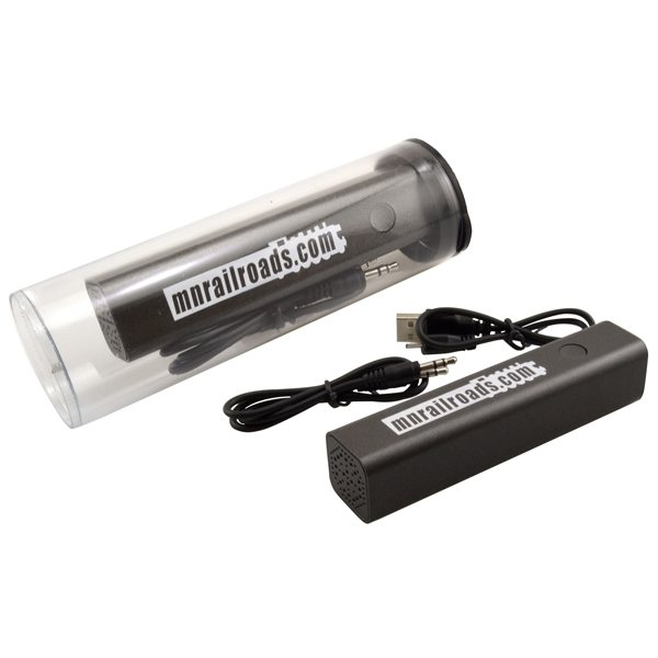 Promotional Tube w / Bluetooth Speaker Power Bank