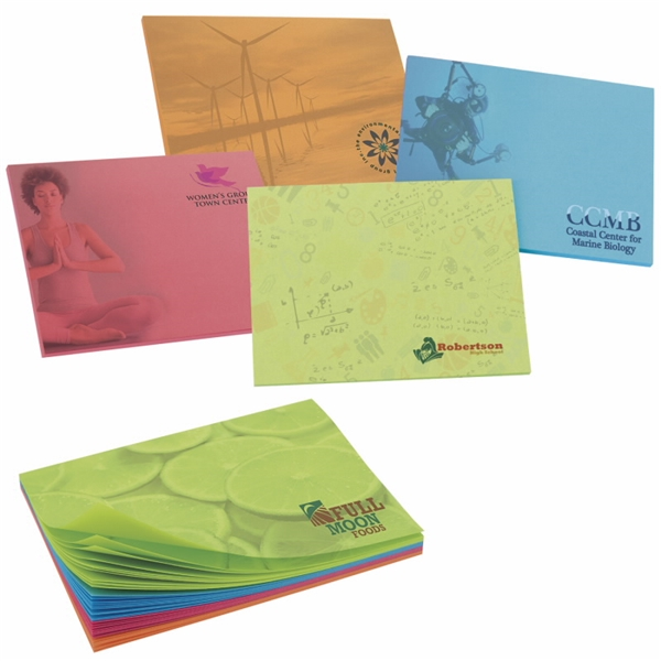 Promotional BIC(R) 4 x 3 Bright Colored Paper Adhesive Notepad, 100 Sheet Pad