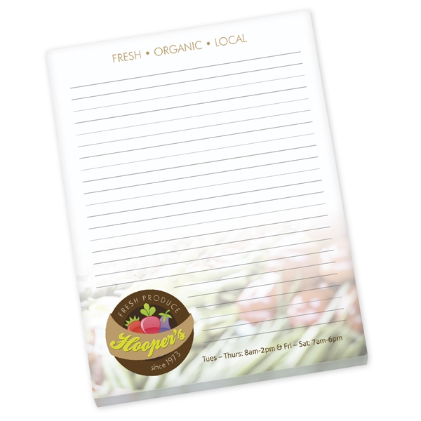 Promotional 8.5 x 11 Non - Adhesive Scratch Pad, 25 Sheet Pad