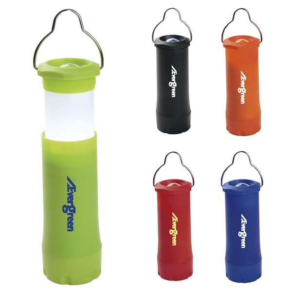 Promotional Camping Hanging Lantern w / Flashlight