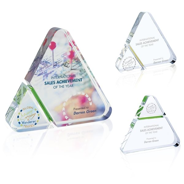 Promotional Triangle Stripe Award