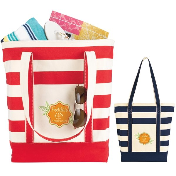 Promotional Striped Cotton Tote