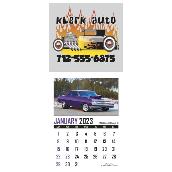 Promotional Full Color Stick Up, Memorable Muscle grid