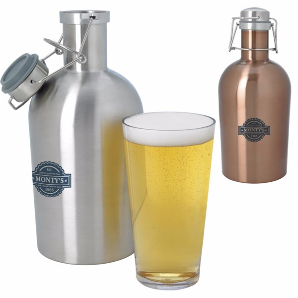 Promotional Stainless Growler - 64 oz.