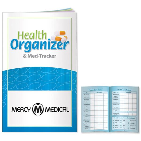Promotional Better Book Health Organizer and Med - Tracker