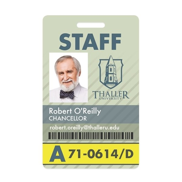Promotional PVC Vertical Name Badge