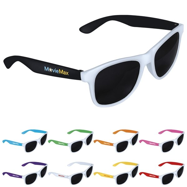 Promotional Two - tone White Frame Sunglasses