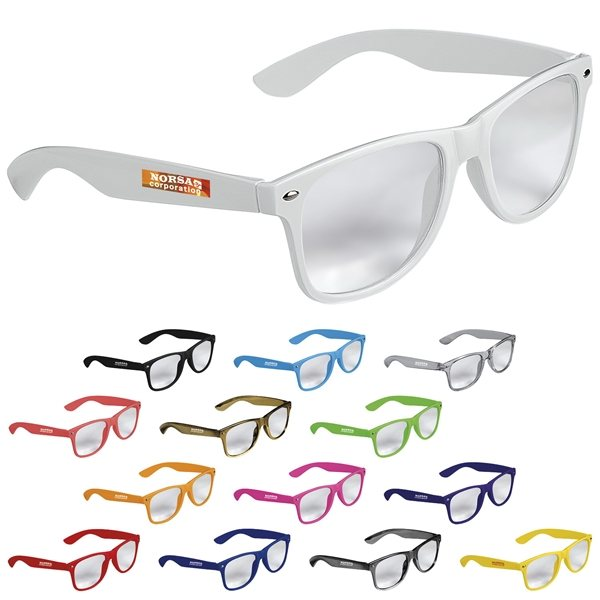 Promotional Cool Vibes Clear Lenses Glasses