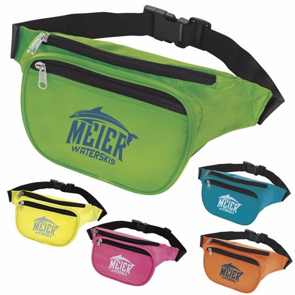 Promotional Neon Polyester Fanny Pack 7-1/8w x 5-1/2h x 2-3/8d