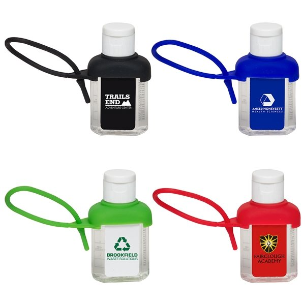 Promotional Caddy Strap One Ounce Alcohol Free Hand Sanitizer