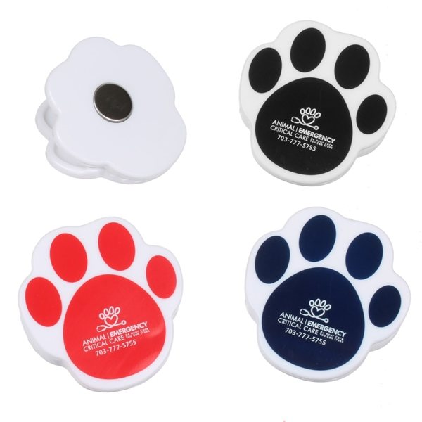 Promotional Paw Shaped Print Clip