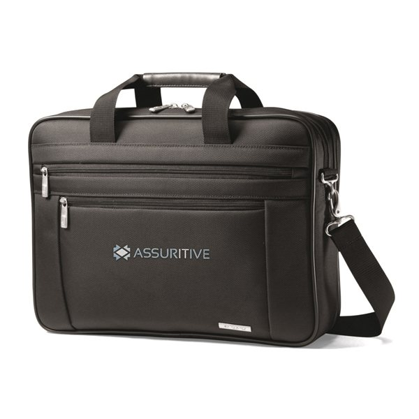 Promotional Samsonite Classic Business Perfect Fit Two Gusset Computer Portfolio