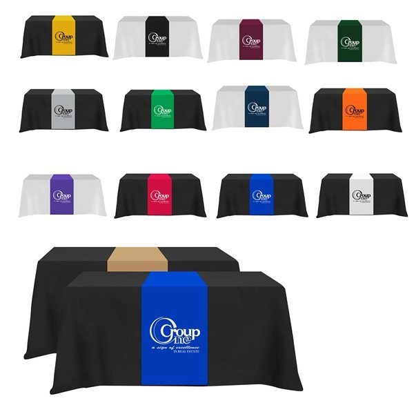 Promotional Table Runner - (Front, Top, Back)