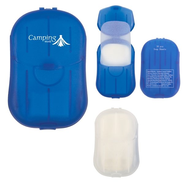 Promotional Hand Soap Sheets In Compact Travel Case