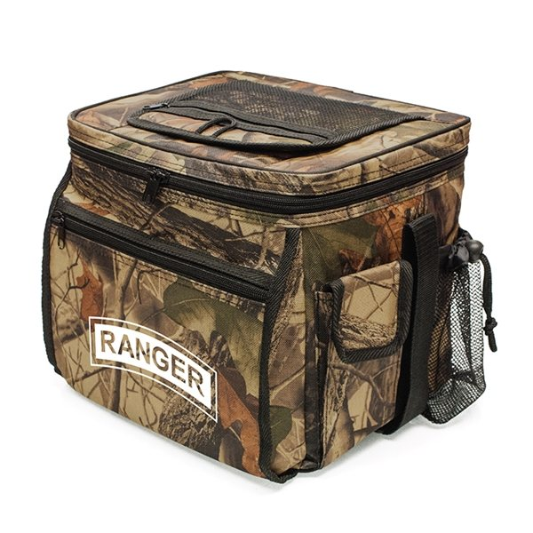 Promotional 600D Polyester Sierra Camo Cooler