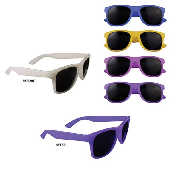 Promotional Color Changing Miami Sunglasses