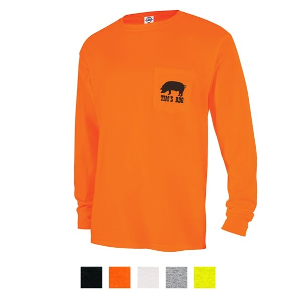 Promotional Delta(R) Magnum Weight(TM) Adult Long Sleeve Pocket Tee