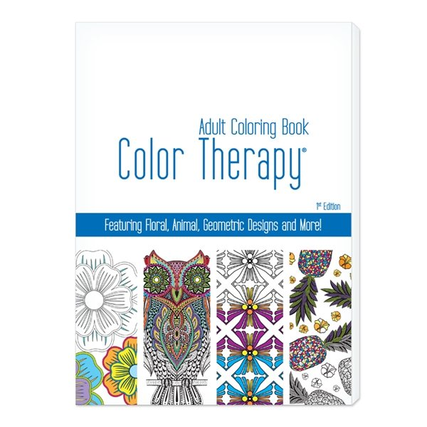 Promotional Color Therapy(TM) 24 Page Adult Coloring Book - USA Made