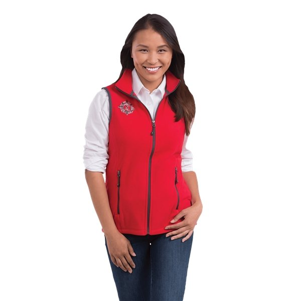 Promotional Tyndall Polyfleece Vest by TRIMARK - Womens
