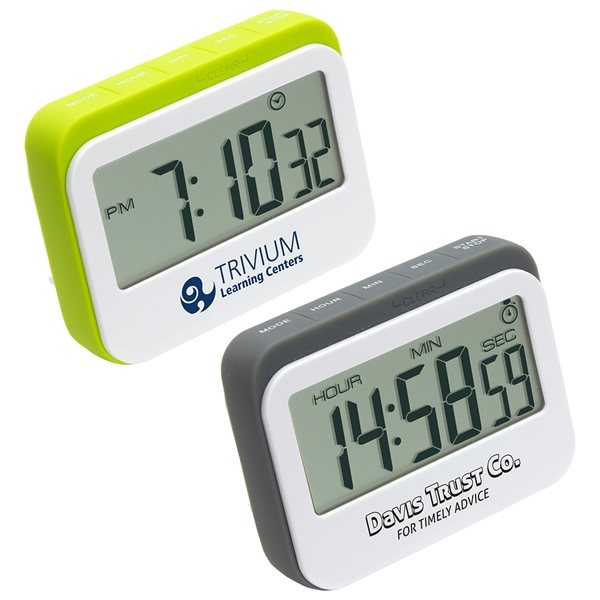 Promotional Soft Touch Widescreen Kitchen Timer / Clock