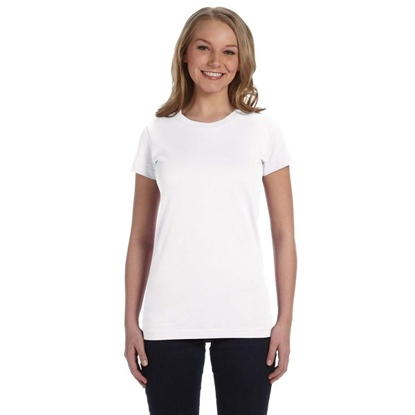 Promotional LAT Junior Fit Fine Jersey T - Shirt - WHITE