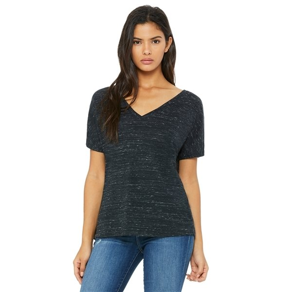 Promotional BELLA + CANVAS Slouchy V - Neck T - Shirt - 8815 - MARBLES