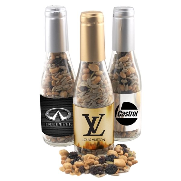 Promotional Small Champagne Bottle with Trail Mix