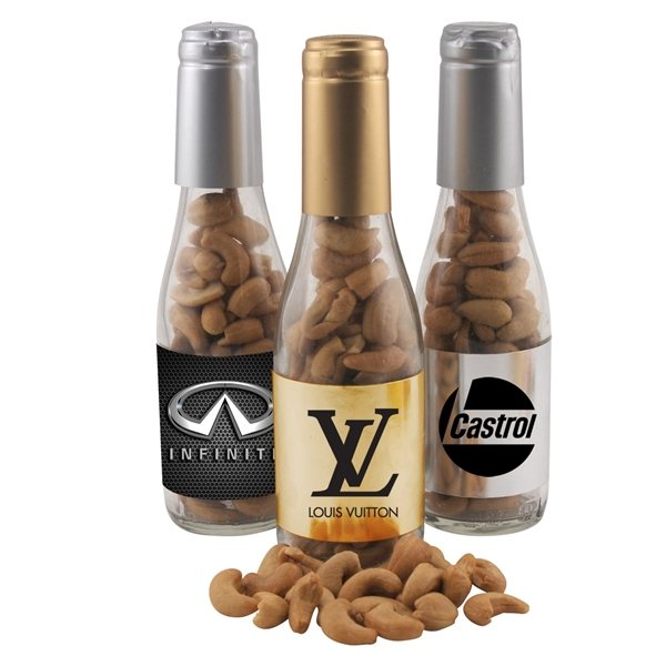 Promotional Small Champagne Bottle with Cashews